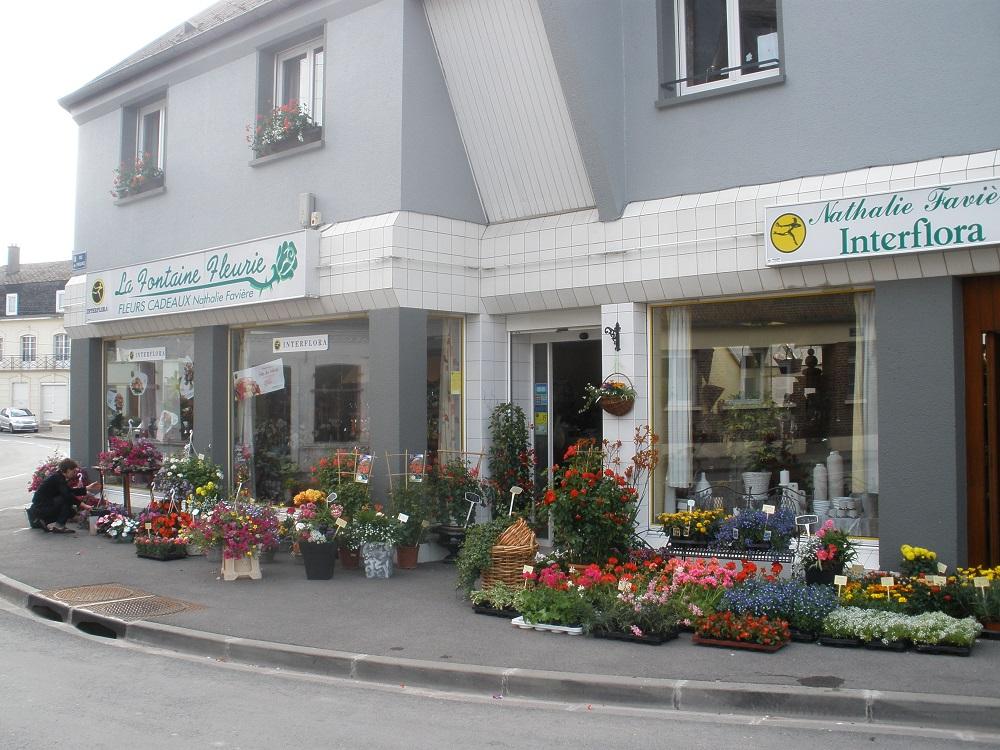 Fleuriste Fruges Interflora.La Fontaine fleurie